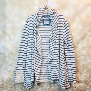 Women stripped Antro hooded cardigan, size s